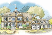 House Plan Design - Country Exterior - Front Elevation Plan #429-349