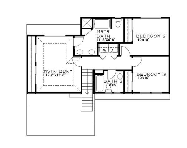 Craftsman Floor Plan - Upper Floor Plan Plan #515-21