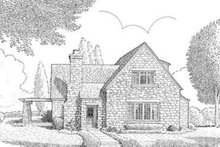 European Exterior - Front Elevation Plan #410-226