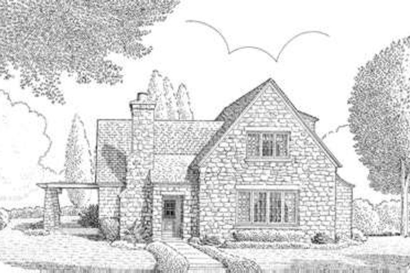 European Exterior - Front Elevation Plan #410-226 - Houseplans.com