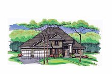 Colonial Exterior - Front Elevation Plan #51-1036