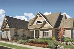 Craftsman Exterior - Front Elevation Plan #929-872