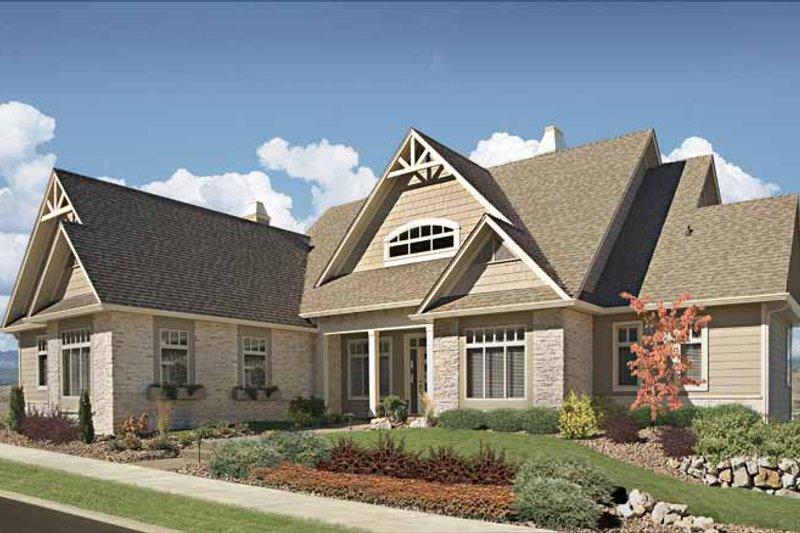 Dream House Plan - Craftsman Exterior - Front Elevation Plan #929-872