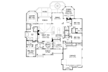 Craftsman Floor Plan - Main Floor Plan Plan #929-988