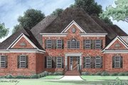 Colonial Style House Plan - 5 Beds 3 Baths 3811 Sq/Ft Plan #1054-18 Exterior - Front Elevation