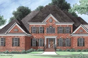 House Plan Design - Colonial Exterior - Front Elevation Plan #1054-18