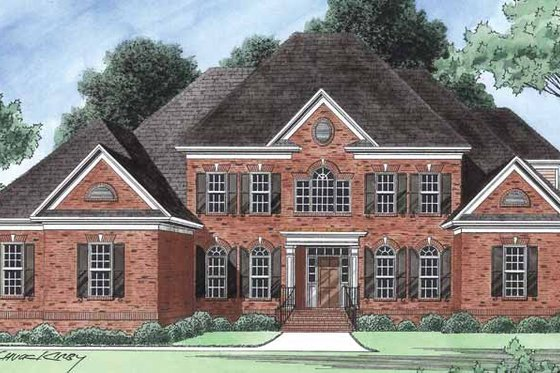 Colonial Exterior - Front Elevation Plan #1054-18
