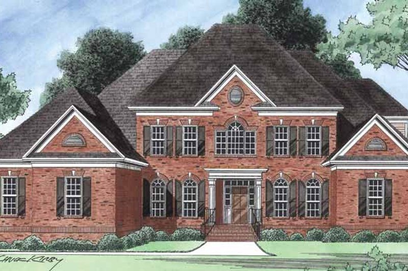 Country Exterior - Front Elevation Plan #1054-18