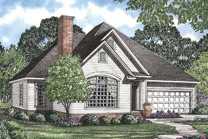 Ranch Exterior - Front Elevation Plan #17-2951 - Houseplans.com