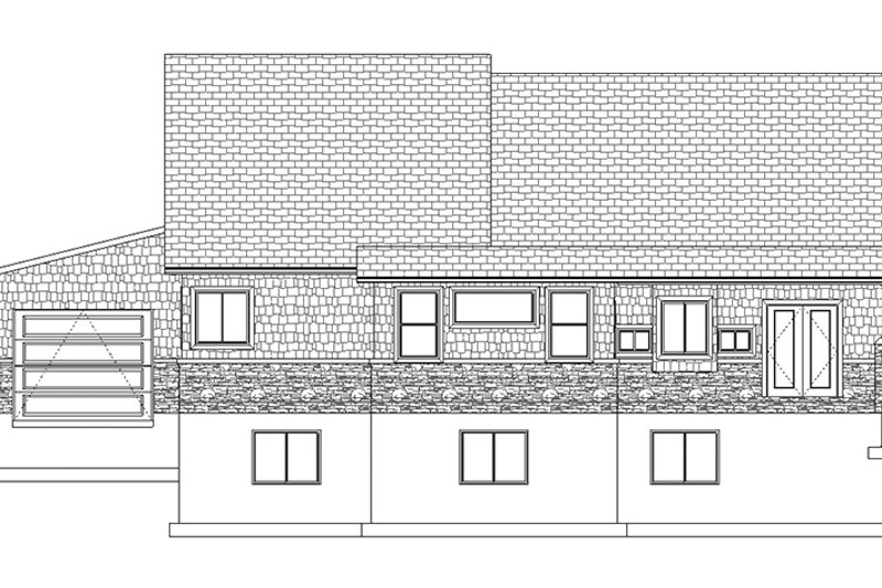Ranch Exterior - Rear Elevation Plan #1060-6 - Houseplans.com