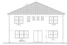 Architectural House Design - Mediterranean Exterior - Rear Elevation Plan #1058-61
