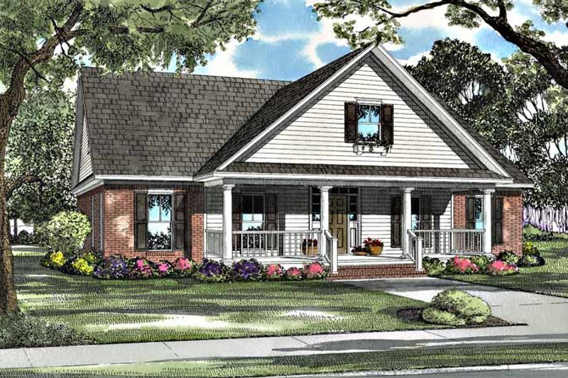 Country Exterior - Front Elevation Plan #17-3184