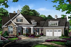 Ranch Exterior - Front Elevation Plan #929-1007