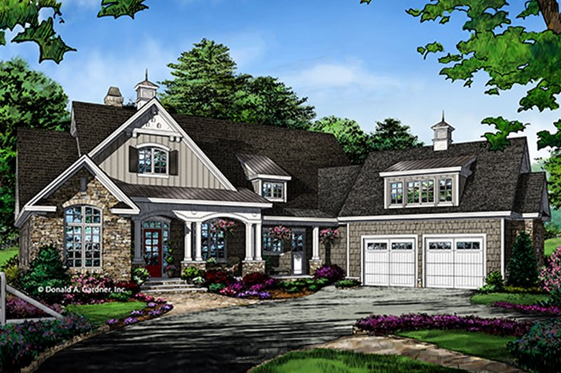 Ranch Exterior - Front Elevation Plan #929-1007 - Houseplans.com