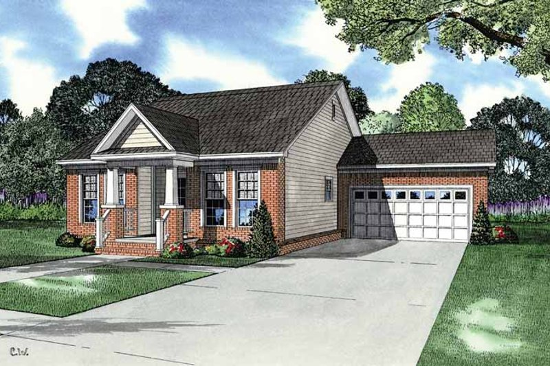 Country Exterior - Front Elevation Plan #17-2906