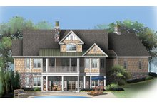 Craftsman Exterior - Rear Elevation Plan #929-909