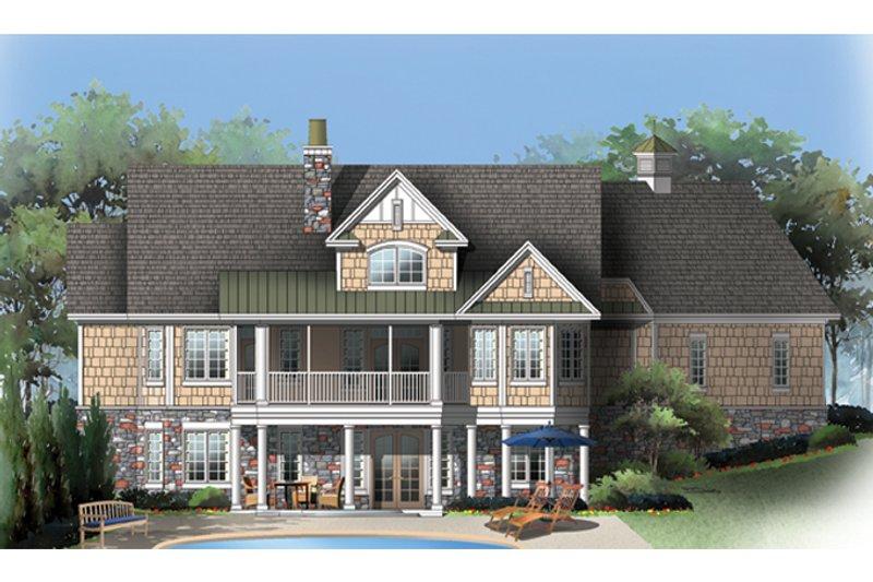 Craftsman Exterior - Rear Elevation Plan #929-909 - Houseplans.com