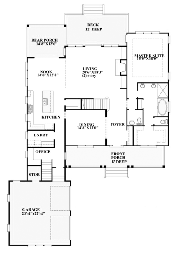 Dream House Plan - Traditional Floor Plan - Main Floor Plan #991-30