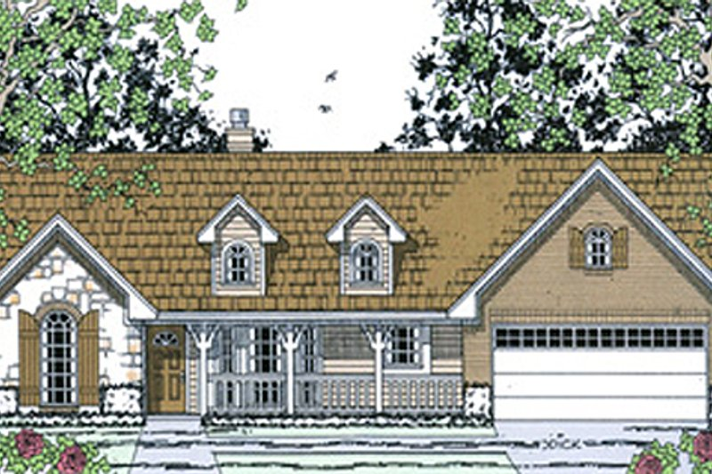 Cottage Exterior - Front Elevation Plan #42-397 - Houseplans.com