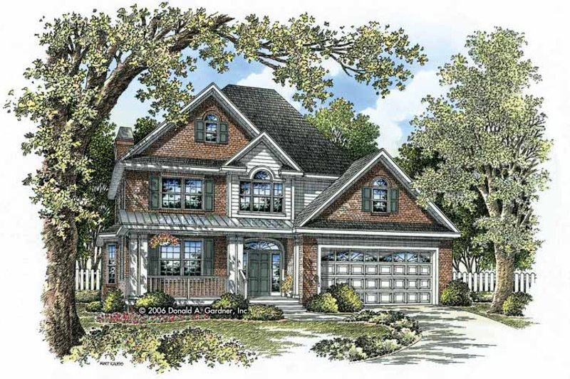 Traditional Exterior - Front Elevation Plan #929-796 - Houseplans.com