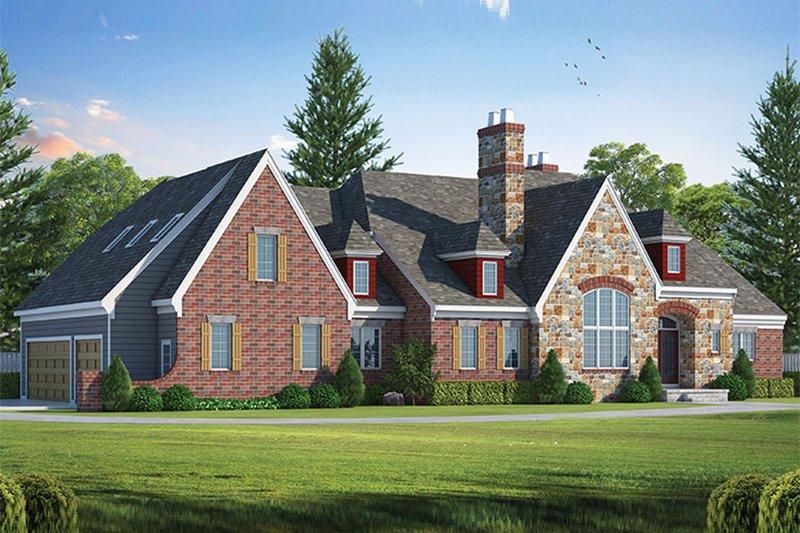 Dream House Plan - European Exterior - Front Elevation Plan #20-2246
