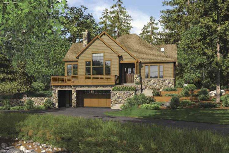 Craftsman Exterior - Front Elevation Plan #48-862