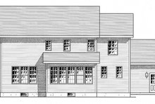 Colonial Exterior - Rear Elevation Plan #316-291