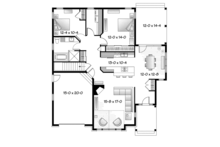 Country Floor Plan - Main Floor Plan Plan #23-2574