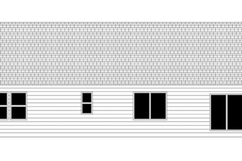 Ranch Exterior - Rear Elevation Plan #943-40 - Houseplans.com