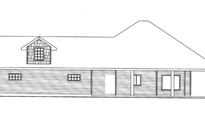 Ranch Exterior - Other Elevation Plan #117-854 - Houseplans.com