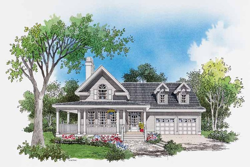Country Exterior - Front Elevation Plan #929-402