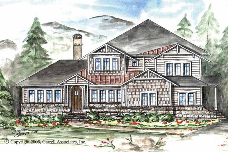 Craftsman Exterior - Front Elevation Plan #54-264 - Houseplans.com