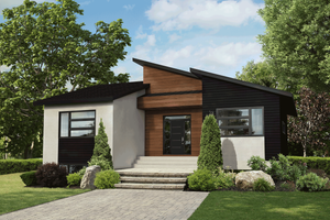 Contemporary Exterior - Front Elevation Plan #25-4920