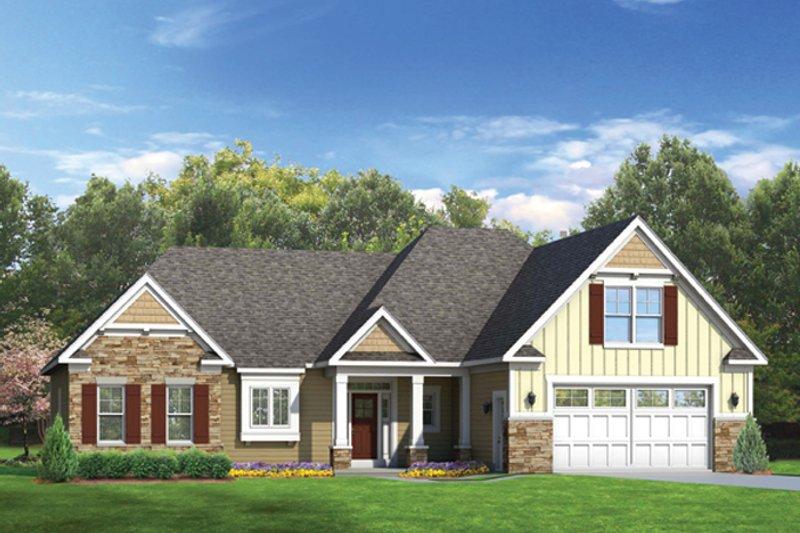 Ranch Exterior - Front Elevation Plan #1010-44 - Houseplans.com
