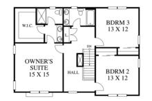 Traditional Floor Plan - Upper Floor Plan Plan #1053-76