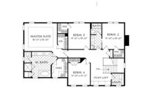Colonial Floor Plan - Upper Floor Plan Plan #927-956