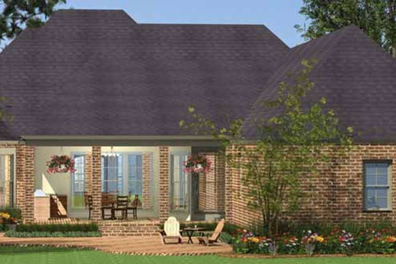 Country Exterior - Rear Elevation Plan #406-9628 - Houseplans.com