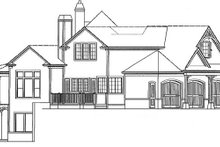House Plan Design - Craftsman Exterior - Other Elevation Plan #54-352