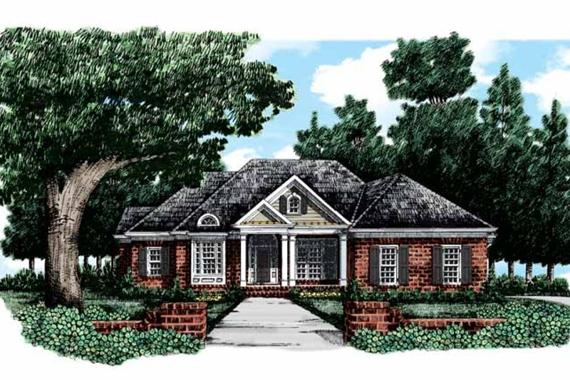 Colonial Exterior - Front Elevation Plan #927-317