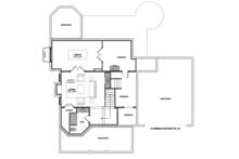 Traditional Floor Plan - Lower Floor Plan Plan #928-299