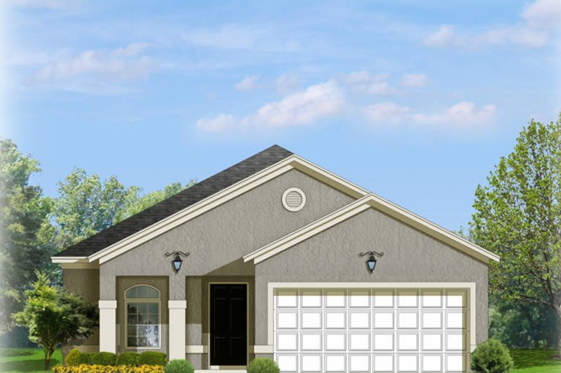 Mediterranean Exterior - Front Elevation Plan #1058-90