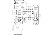 Mediterranean Style House Plan - 6 Beds 4.5 Baths 4398 Sq/Ft Plan #930-334 Floor Plan - Main Floor Plan