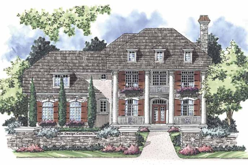 Classical Exterior - Front Elevation Plan #930-251
