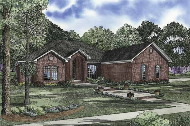 Dream House Plan - Ranch Exterior - Front Elevation Plan #17-2842