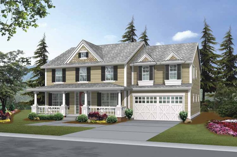 Dream House Plan - Traditional Exterior - Front Elevation Plan #132-379