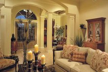 Mediterranean Interior - Family Room Plan #930-322