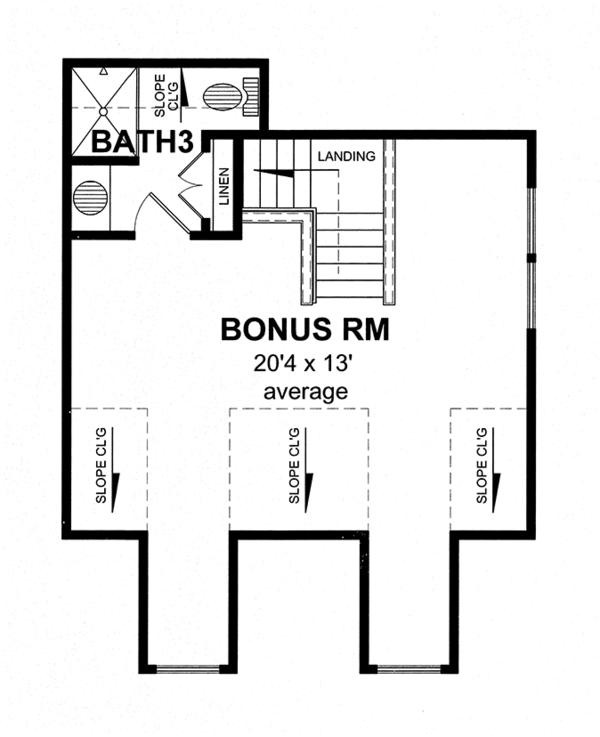 Craftsman Floor Plan - Other Floor Plan Plan #316-274