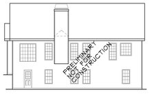 Home Plan - Colonial Exterior - Rear Elevation Plan #927-388