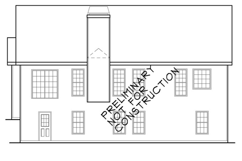 Colonial Exterior - Rear Elevation Plan #927-388 - Houseplans.com