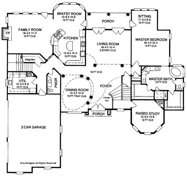 European Floor Plan - Main Floor Plan Plan #952-272